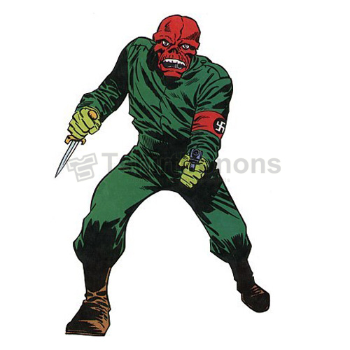 Red Skull T-shirts Iron On Transfers N7706