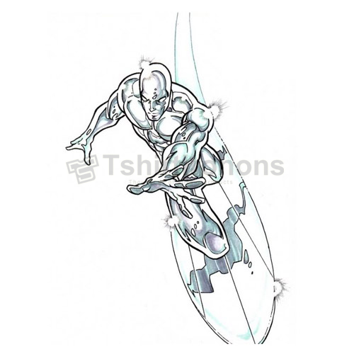Silver Surfer T-shirts Iron On Transfers N7562