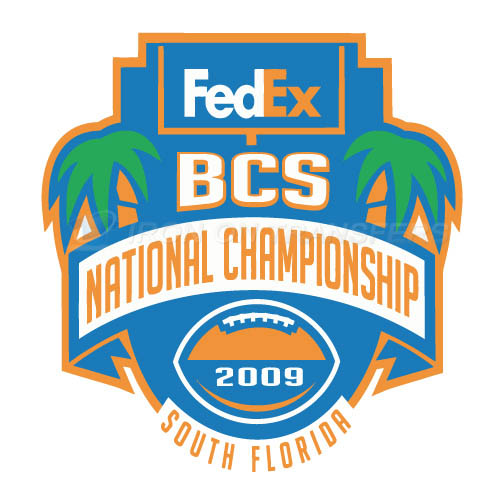 BCS Championship Game Primary Logos 2009 T-shirts Iron On Transf