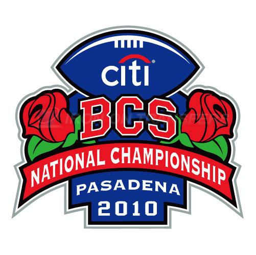 BCS Championship Game Primary Logos 2010 T-shirts Iron On Transf