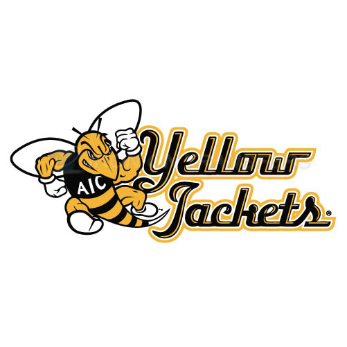 AIC Yellow Jackets 2009-Pres Alternate Logo1 T-shirts Iron On Tr