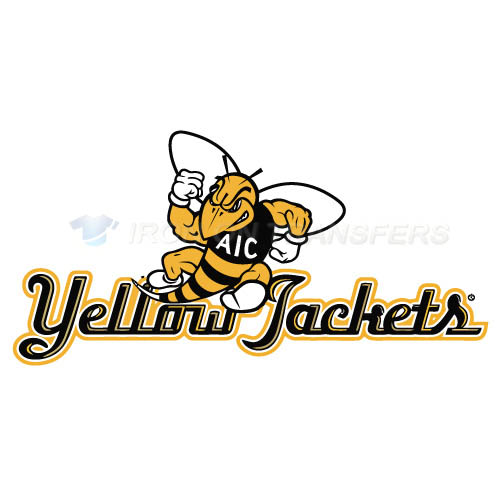AIC Yellow Jackets 2009-Pres Alternate Logo2 T-shirts Iron On Tr