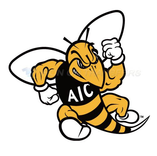 AIC Yellow Jackets 2009-Pres Primary Logo T-shirts Iron On Trans