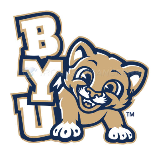 Brigham Young Cougars logo T-shirts Iron On Transfers N4025