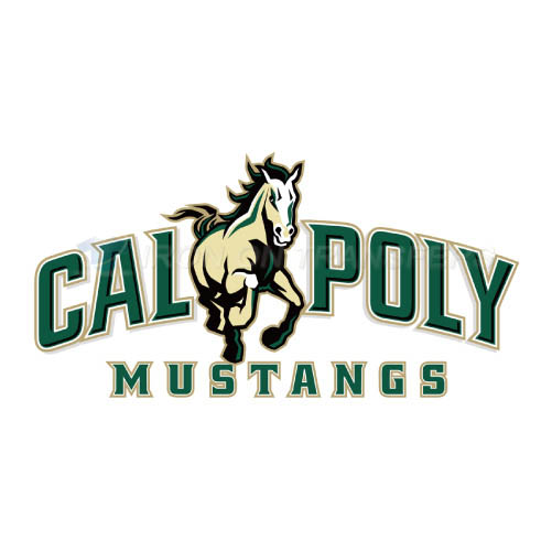 Cal Poly Mustangs logo T-shirts Iron On Transfers N4050
