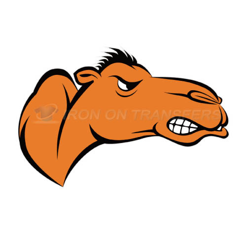 Campbell Fighting Camels logo T-shirts Iron On Transfers N4093