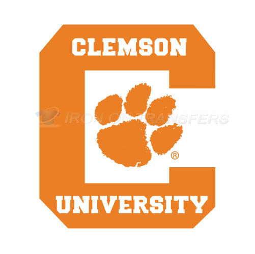 Clemson Tigers logo T-shirts Iron On Transfers N4148