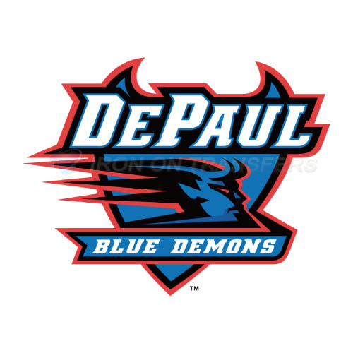 DePaul Blue Demons Logo T-shirts Iron On Transfers N4259