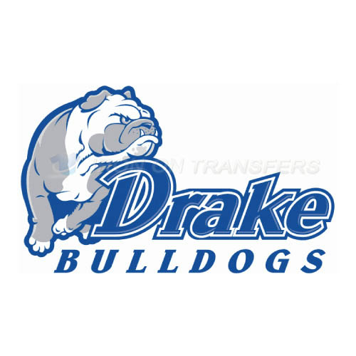 Drake Bulldogs Logo T-shirts Iron On Transfers N4275