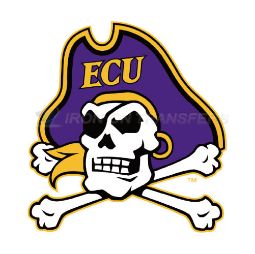 East Carolina Pirates Logo T-shirts Iron On Transfers N4303