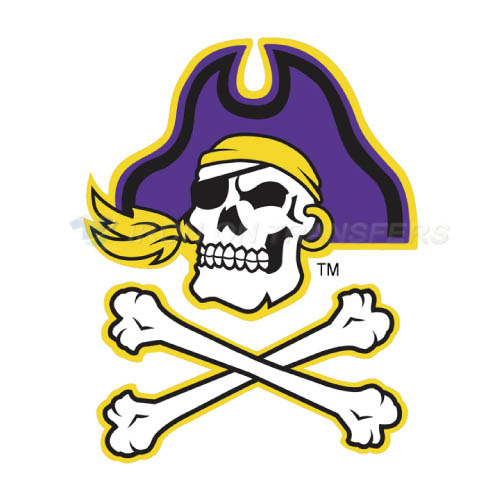 East Carolina Pirates Logo T-shirts Iron On Transfers N4305