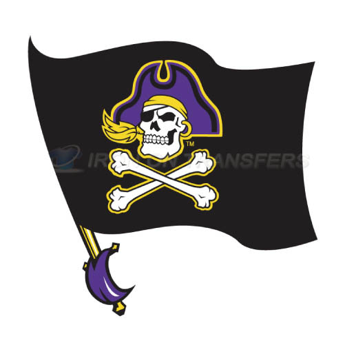 East Carolina Pirates Logo T-shirts Iron On Transfers N4307