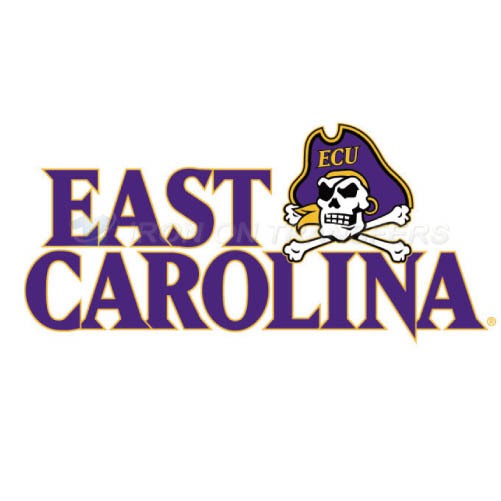 East Carolina Pirates Logo T-shirts Iron On Transfers N4310