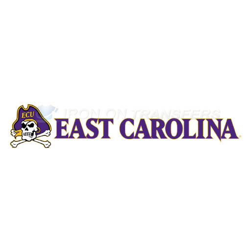 East Carolina Pirates Logo T-shirts Iron On Transfers N4311