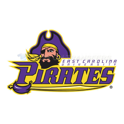 East Carolina Pirates Logo T-shirts Iron On Transfers N4312