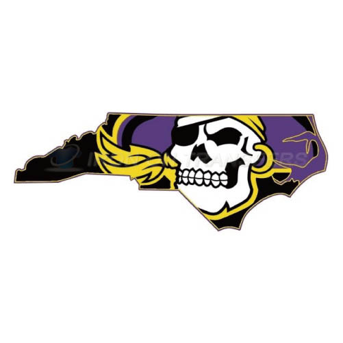 East Carolina Pirates Logo T-shirts Iron On Transfers N4314