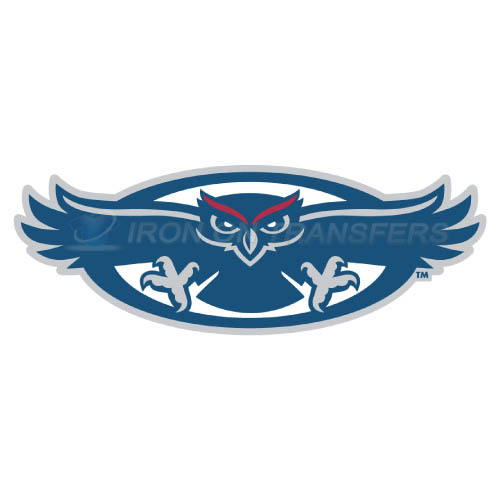 Florida Atlantic Owls Logo T-shirts Iron On Transfers N4374
