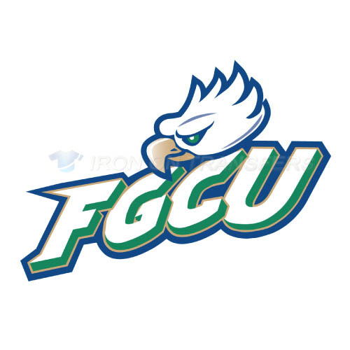 Florida Gulf Coast Eagles Logo T-shirts Iron On Transfers N4391