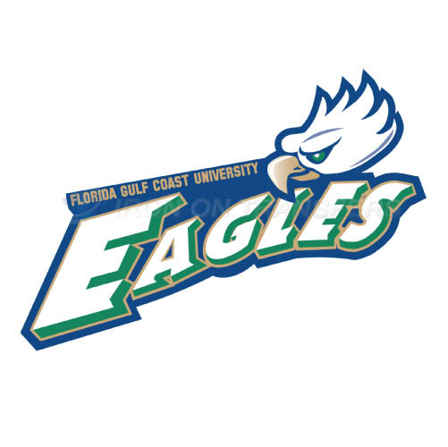 Florida Gulf Coast Eagles Logo T-shirts Iron On Transfers N4393