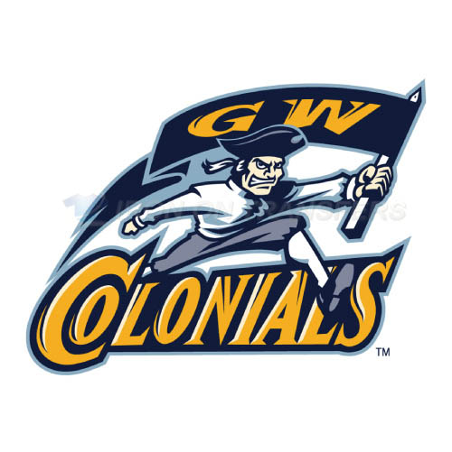 George Washington Colonials Logo T-shirts Iron On Transfers N444