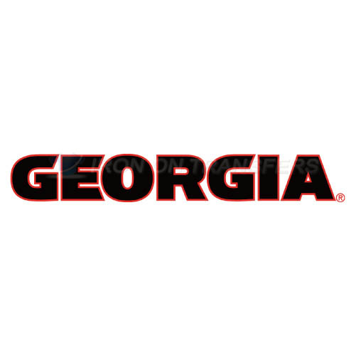 Georgia Bulldogs Logo T-shirts Iron On Transfers N4468