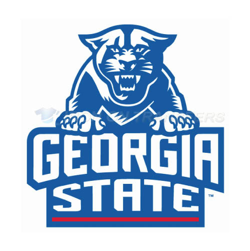 Georgia State Panthers Logo T-shirts Iron On Transfers N4492