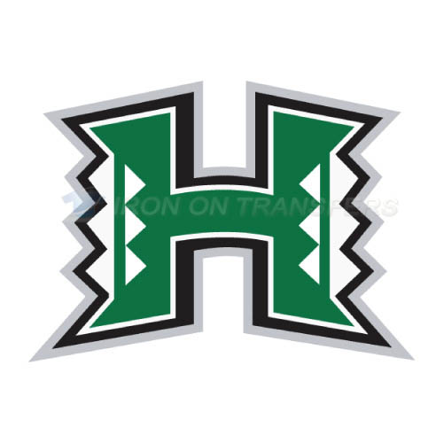 Hawaii Warriors Logo T-shirts Iron On Transfers N4541