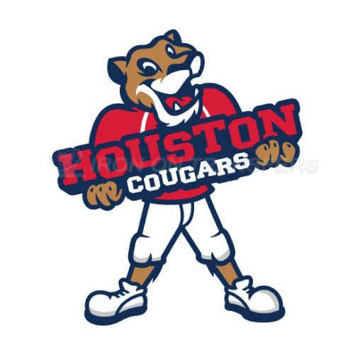 Houston Cougars Logo T-shirts Iron On Transfers N4573