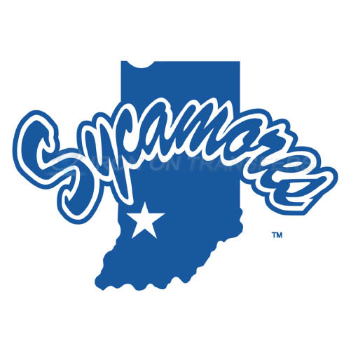 Indiana State Sycamores Logo T-shirts Iron On Transfers N4635