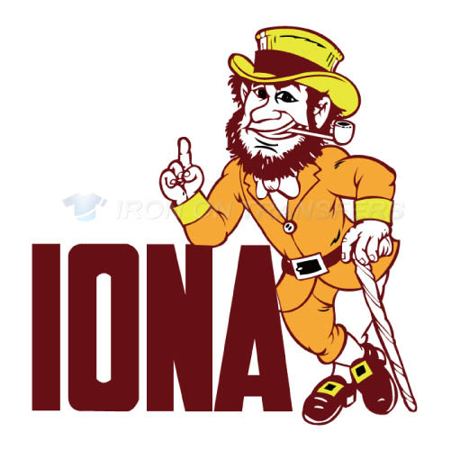 Iona Gaels Logo T-shirts Iron On Transfers N4638