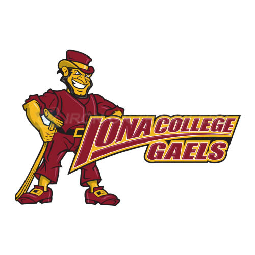 Iona Gaels Logo T-shirts Iron On Transfers N4642