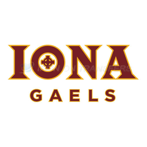 Iona Gaels Logo T-shirts Iron On Transfers N4643