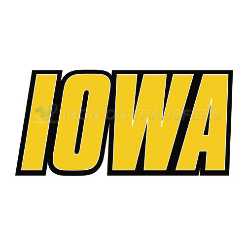 Iowa Hawkeyes Logo T-shirts Iron On Transfers N4649