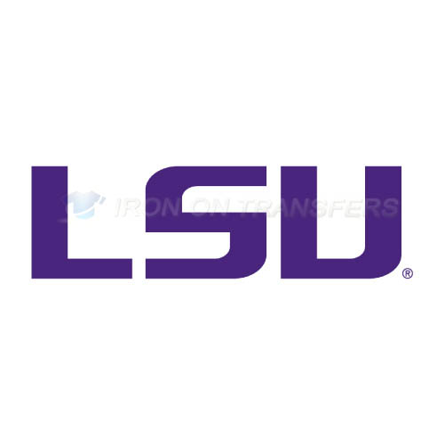 LSU Tigers Logo T-shirts Iron On Transfers N4912