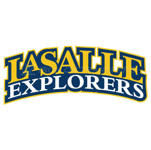 La Salle Explorers Logo T-shirts Iron On Transfers N4751