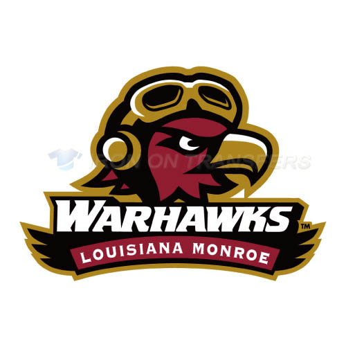 Louisiana Monroe Warhawks Logo T-shirts Iron On Transfers N4833