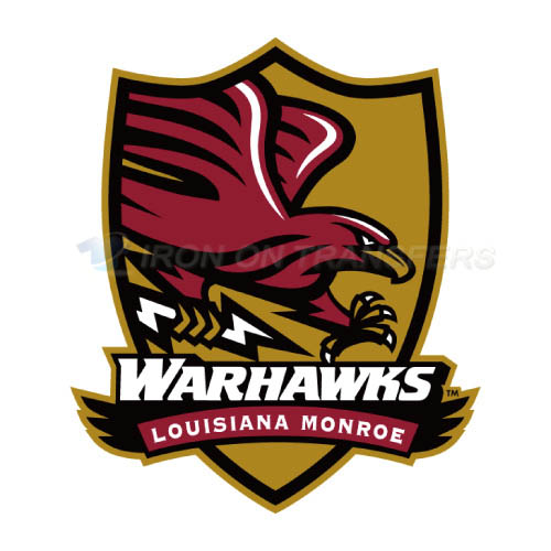 Louisiana Monroe Warhawks Logo T-shirts Iron On Transfers N4838
