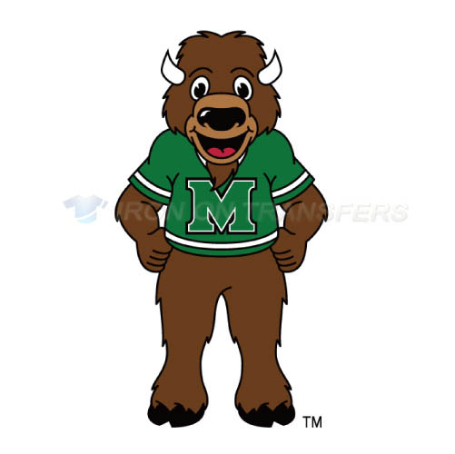 Marshall Thundering Herd Logo T-shirts Iron On Transfers N4972