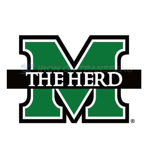 Marshall Thundering Herd Logo T-shirts Iron On Transfers N4973