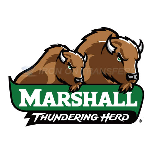 Marshall Thundering Herd Logo T-shirts Iron On Transfers N4981