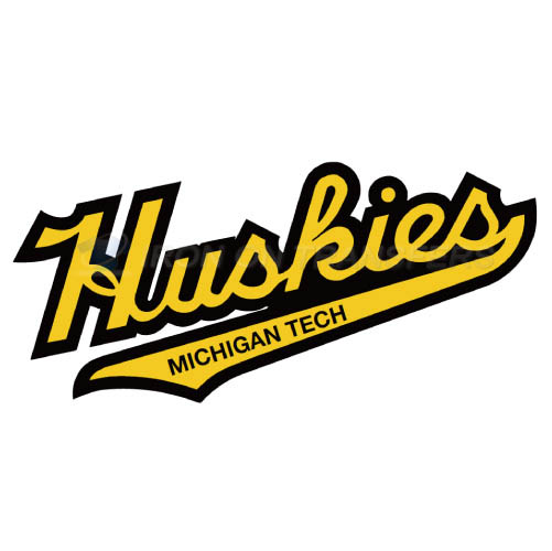 Michigan Tech Huskies Logo T-shirts Iron On Transfers N5063
