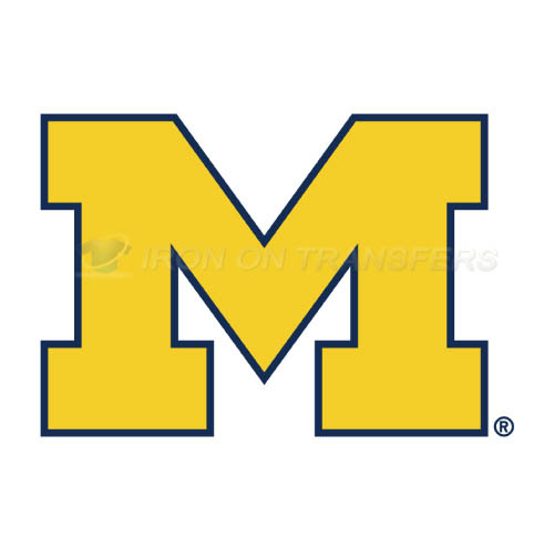 Michigan Wolverines Logo T-shirts Iron On Transfers N5075