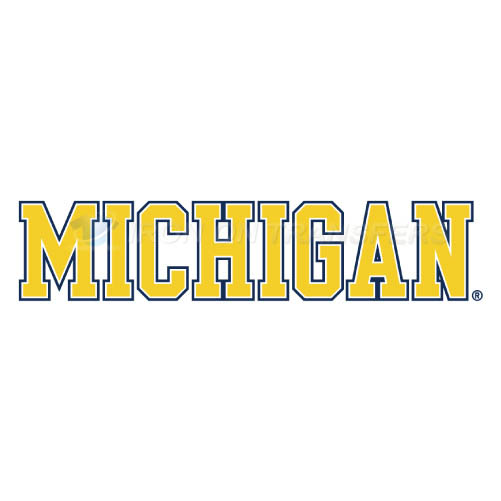 Michigan Wolverines Logo T-shirts Iron On Transfers N5077