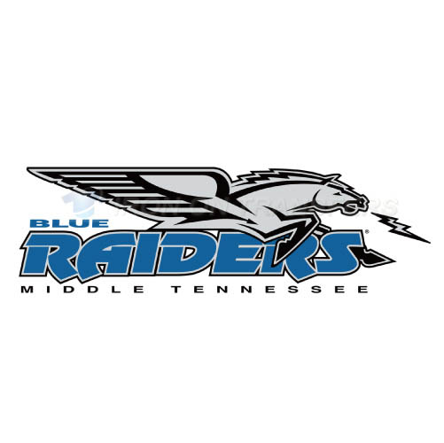 Middle Tennessee Blue Raiders Logo T-shirts Iron On Transfers N5
