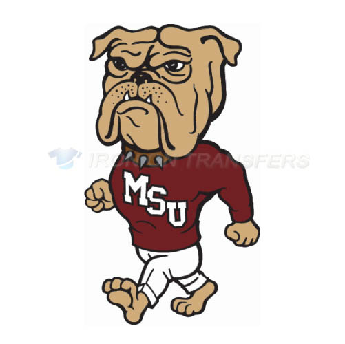 Mississippi State Bulldogs Logo T-shirts Iron On Transfers N5128