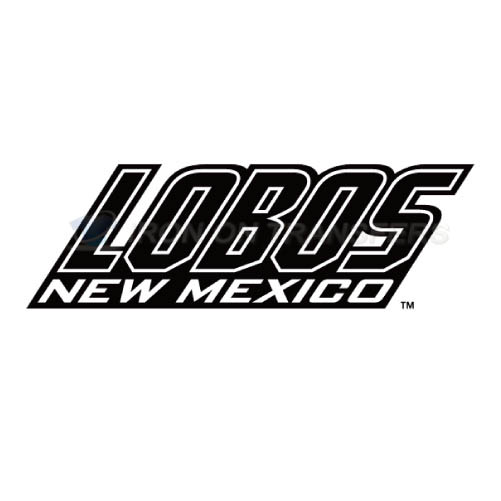 New Mexico Lobos Logo T-shirts Iron On Transfers N5424