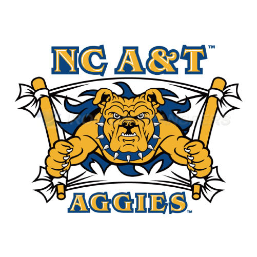 North Carolina A T Aggies Logo T-shirts Iron On Transfers N5486