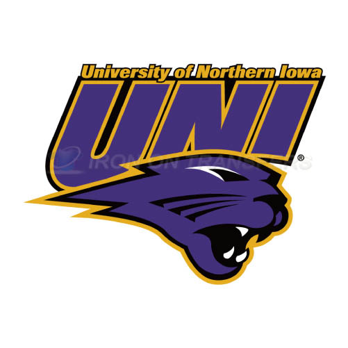 Northern Iowa Panthers Logo T-shirts Iron On Transfers N5675
