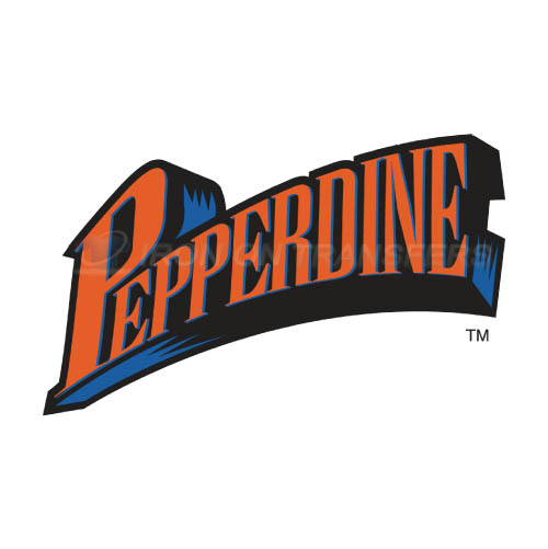 Pepperdine Waves Logo T-shirts Iron On Transfers N5884