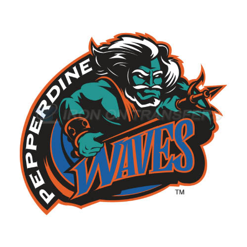 Pepperdine Waves Logo T-shirts Iron On Transfers N5891